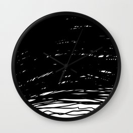 Scribbled Lines Wall Clock
