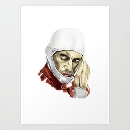 Ayrton Senna. Push It To The Limit Art Print