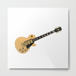 Tan Electric Guitar Metal Print