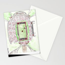 U of L Papa John's Cardinal Stadium, Louisville, Kentucky, Watercolor Stationery Cards
