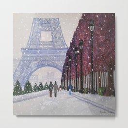 Winter In Paris Metal Print