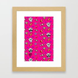 Skulls 'n' Flowers Framed Art Print