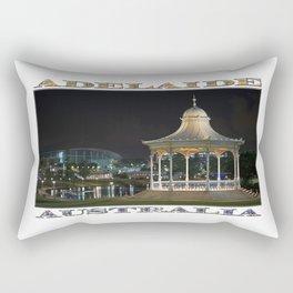 Illuminated Elegance (poster on white) Rectangular Pillow