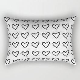 Big Heart Ink Pattern Rectangular Pillow