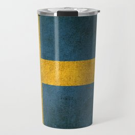 Old and Worn Distressed Vintage Flag of Sweden Travel Mug