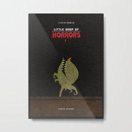 Little Shop of Horrors Alternative Minimalist Poster Metal Print