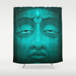 Buddha I. Shower Curtain