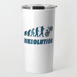 Bikeolution Evolution for bike rider and cyclist Travel Mug