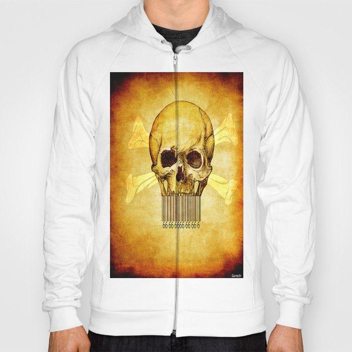 Skeleton bar codes Hoody