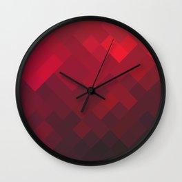 Red Impulse Wall Clock