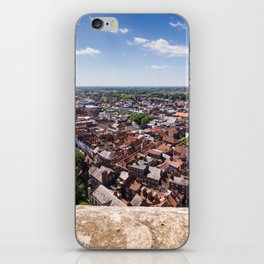 View of York from York Minster Cathedral tower iPhone Skin
