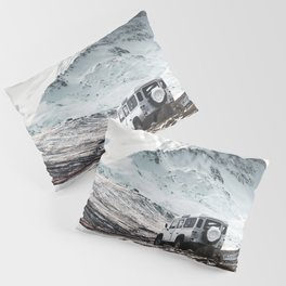 on the road in iceland Pillow Sham