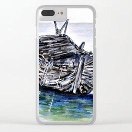 Broken But Afloat Clear iPhone Case