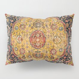 Indian Boho III // 16th Century Distressed Red Green Blue Flowery Colorful Ornate Rug Pattern Pillow Sham