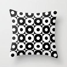black & whit pattern Throw Pillow