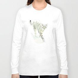 the tabby cat strut Long Sleeve T-shirt