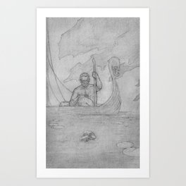 Fear not the Ferryman Art Print