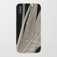 feather iPhone & iPod Cases featuring Feather by Dora Birgis