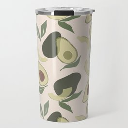 Modern Abstract Avocado Pattern Travel Mug