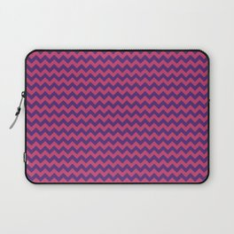 Vivid Berry Chevrons by Squibble Design Laptop Sleeve