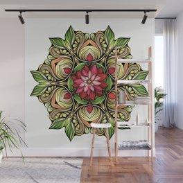 Ornamented Flowers Wall Mural