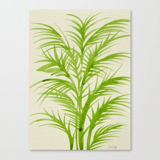 Lime Palms Canvas Print