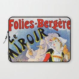 Jules Cheret Folies-Bergere Le Miroir 1896 Laptop Sleeve