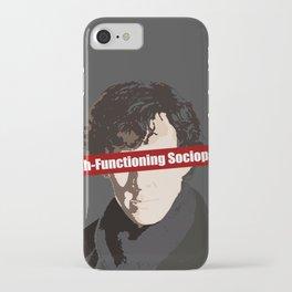 Sherlock: High-Functioning Sociopath iPhone Case
