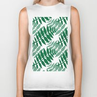 green pattern Biker Tanks featuring Green by JuniqueStudio