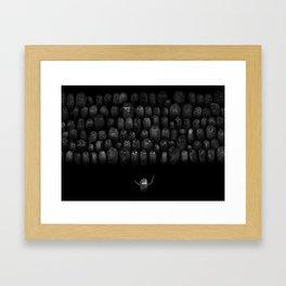 Fingerprint I Framed Art Print