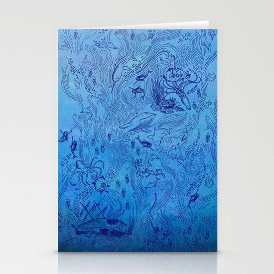 Le Grand Bleu Stationery Cards