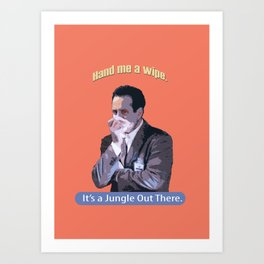 Hand me a Wipe_It's a Jungle Out There_Andrian Monk. Art Print