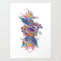 psych Art Prints featuring Psych by Sushibird