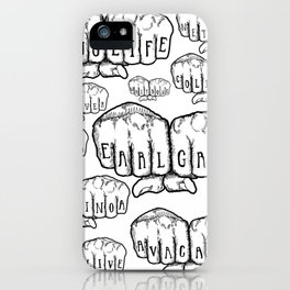 MIDDLE CLASS KNUCKLES iPhone Case