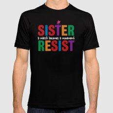 Sister Resist MEDIUM Mens Fitted Tee Black