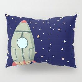 A retro rocket Pillow Sham