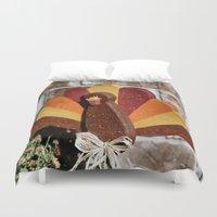 turkey Duvet Covers featuring Turkey Day by IowaShots