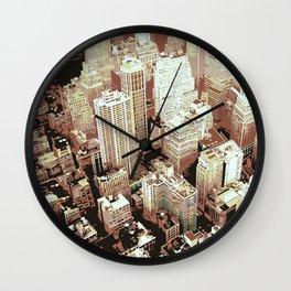 Bird Flight View of New York City Wall Clock