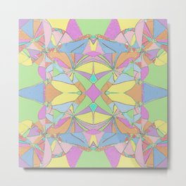280 - Colourful distressed abstract design Metal Print