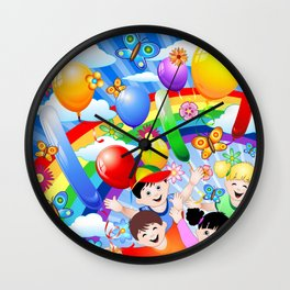 Happy Children's Birthday Party! Wall Clock