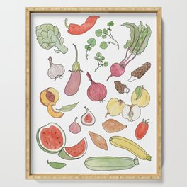 ABC fruit & vegetables Serving Tray
