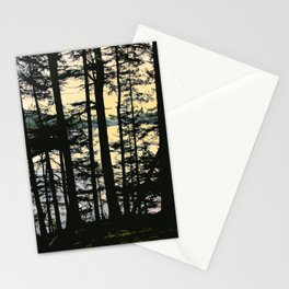 EARLY WINTER DUSK AT MOUNTAIN LAKE ON ORCAS ISLAND Stationery Cards