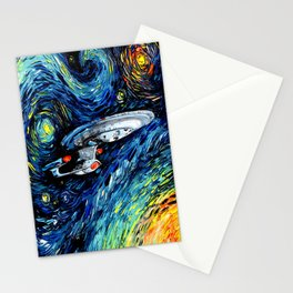 van Gogh Never Boldly Went Stationery Cards