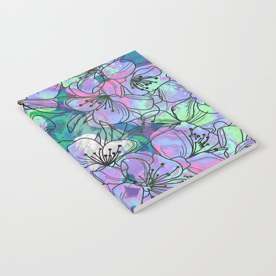 Little Purple Flowers Notebook