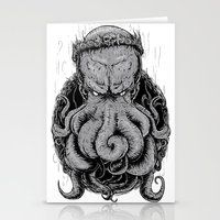 cthulu Stationery Cards featuring The Octopus KIng by StinkBrain