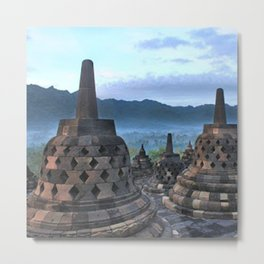 Borobudur Temple  Morning Serenade Metal Print