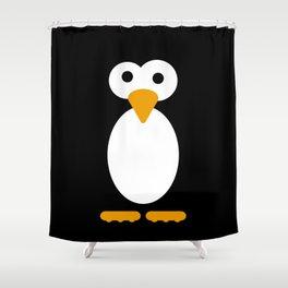Minimal Penguin Shower Curtain