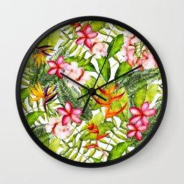 My Aloha Tropical Flower Hibiscus Garden Wall Clock