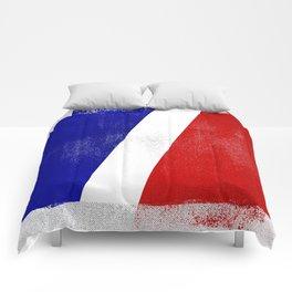 French Distressed Halftone Denim Flag Comforters