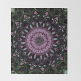 Rose And Jade Geometric Fantasy Mandala Pattern Throw Blanket